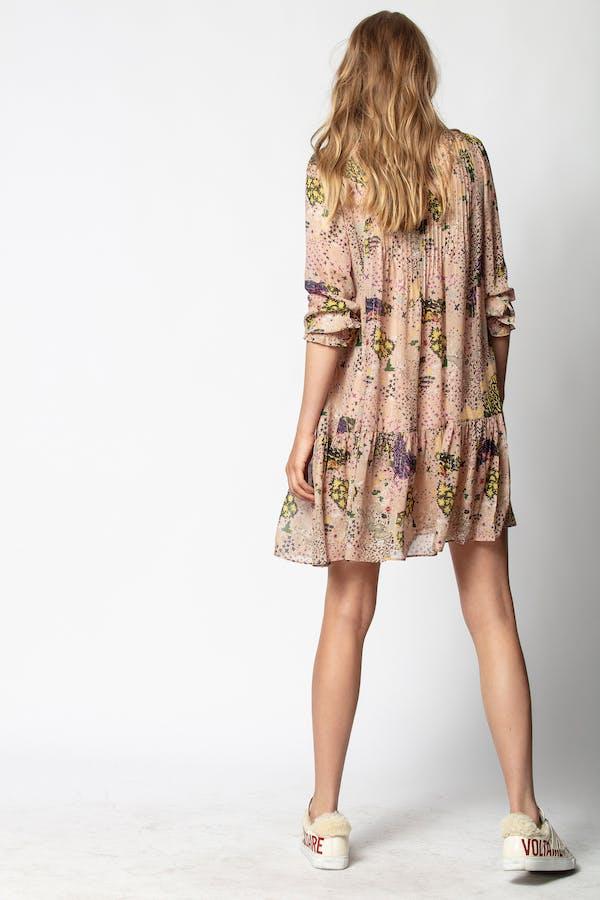 Rikotas Print Lurex Dress