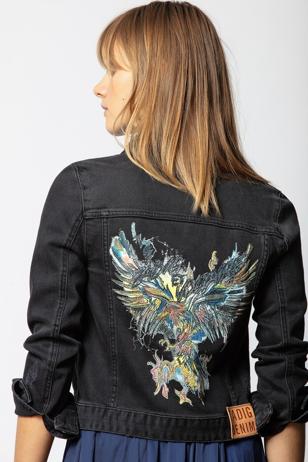 Kioky Grunge Eagle Jacket