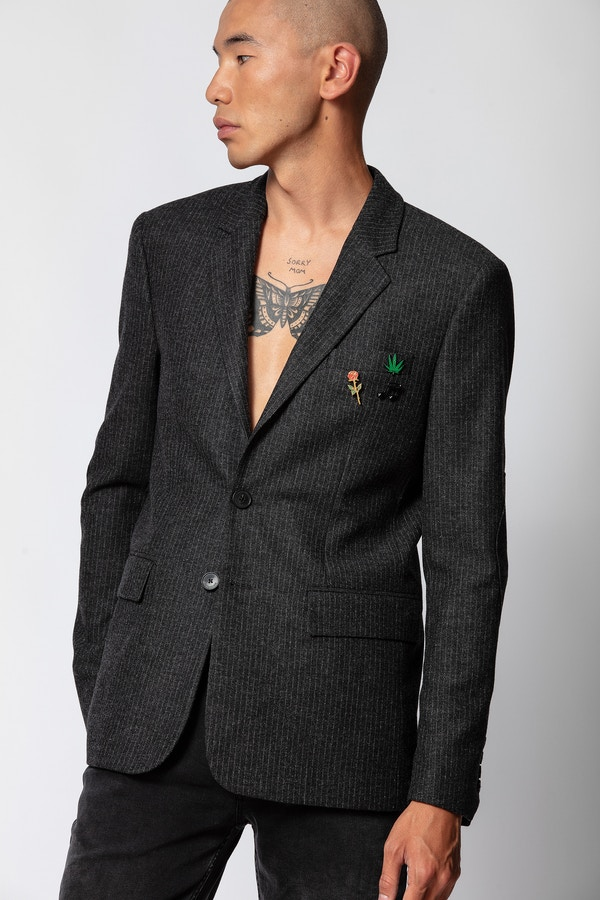 Valfried Stripe Pins Jacket