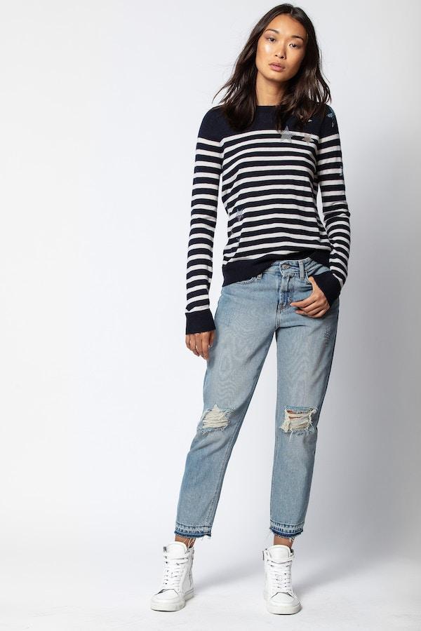 Miss Cashmere Strass Sweater