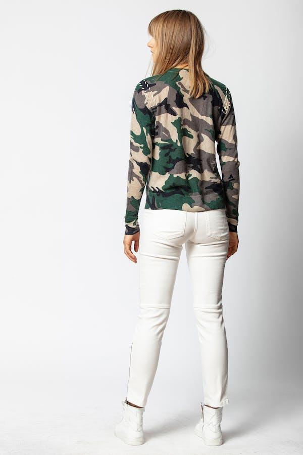 Crisp Cashmere Camou Sweater