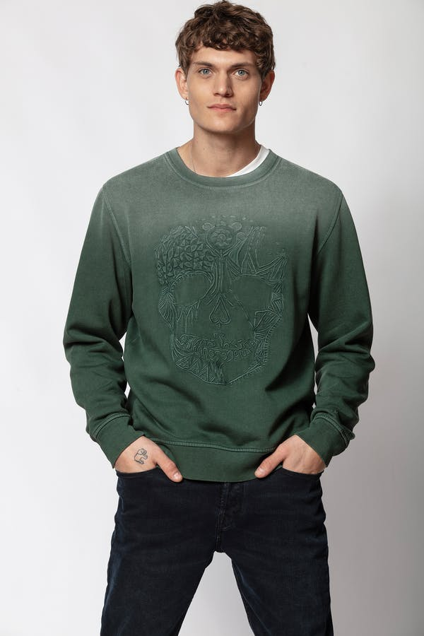 Steeve Spray Skull Sweatshirt