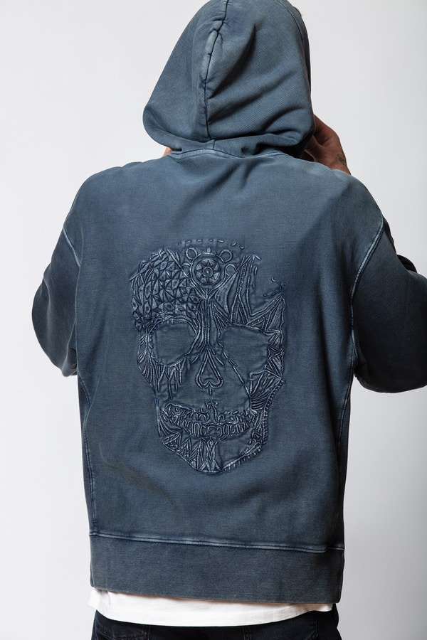 Sanchi Spray Skull Sweatshirt
