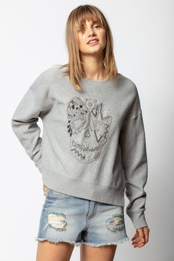 Champ Canetille Skull Sweatshirt