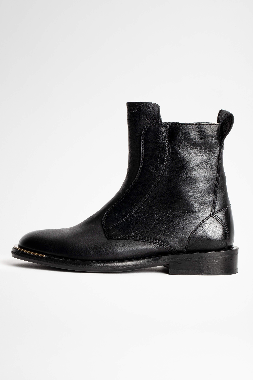 쟈딕앤볼테르 Zadig & Voltaire Laureen High Silk Boots,BLACK