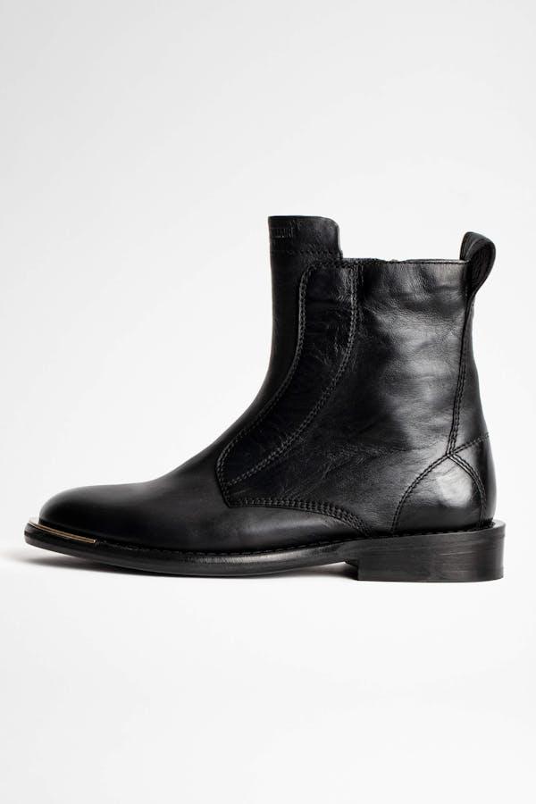 Laureen High Silk Boots