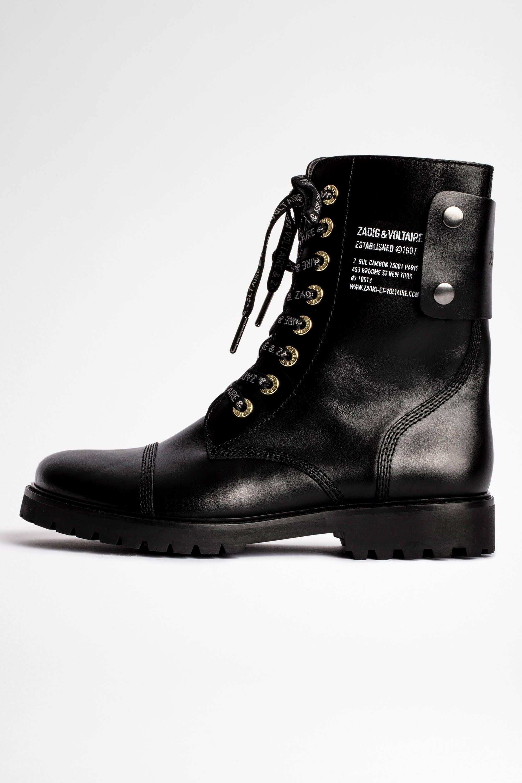 쟈딕앤볼테르 Zadig & Voltaire Joe Smooth Boot,BLACK