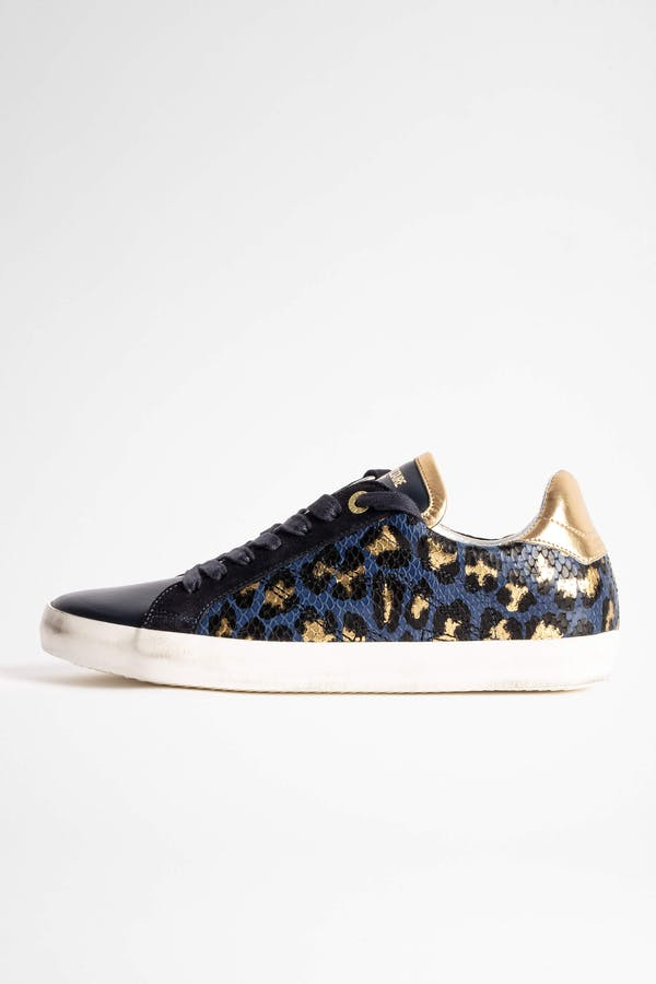 Zadig Used Metallic Leo Sneakers