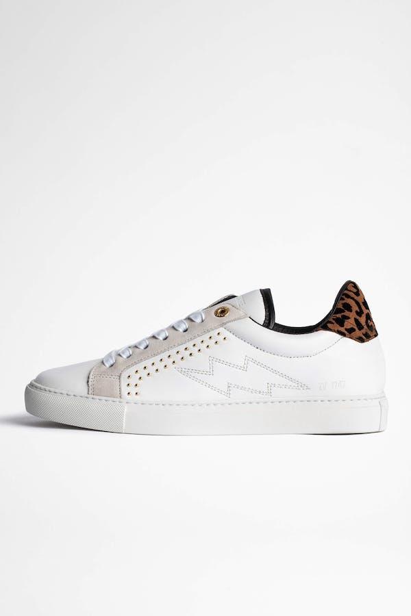 ZV1747 Flocked Suede Sneakers