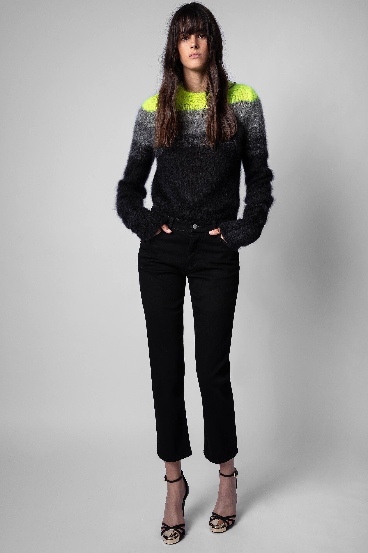 쟈딕앤볼테르 Zadig & Voltaire Boyfit Eco Jeans,BLACK