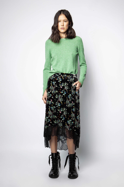 쟈딕 앤 볼테르 조슬린 벨벳 스커트 - 블랙 Zadig & Voltaire Joslin Velvet Blossom Skirt