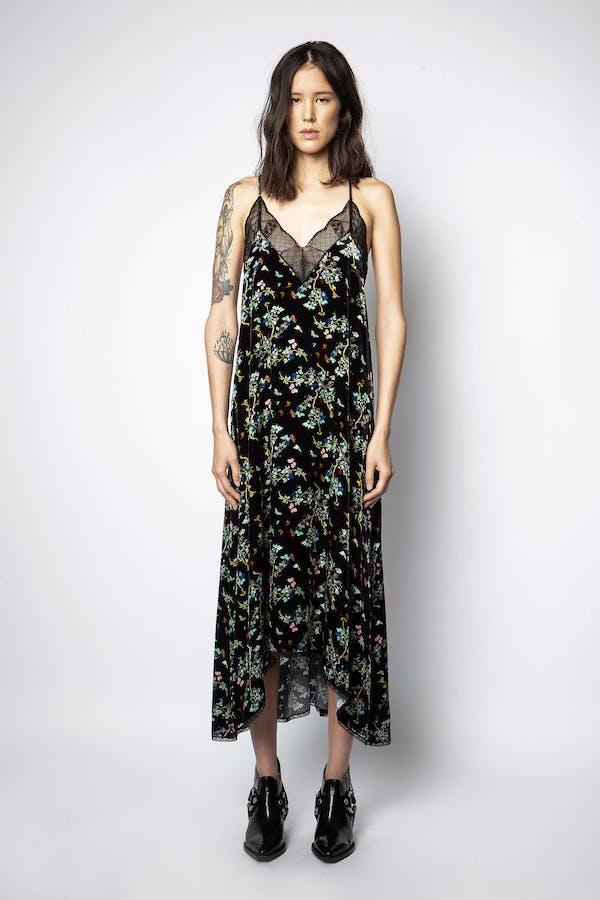 Risty Velvet Blossom Dress