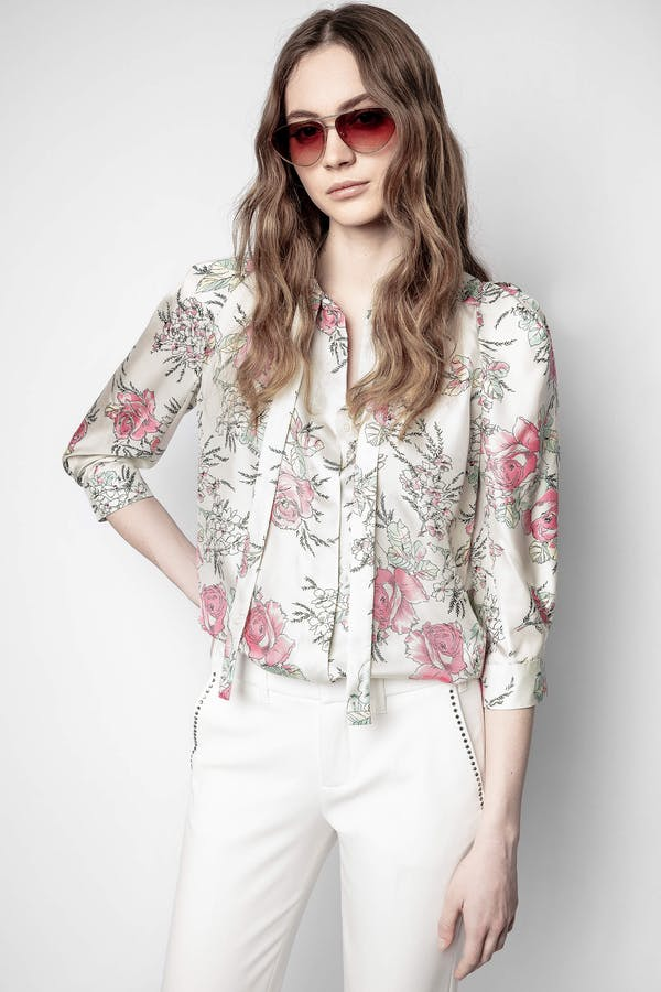 Touch Twill Roses Tunic