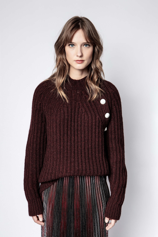 쟈딕 앤 볼테르 콜린 스웨터 (이효리 착용) Zadig & Voltaire Coleen Sweater,BURGUNDY