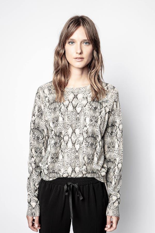 Reglis Python Print Cachemire Sweater