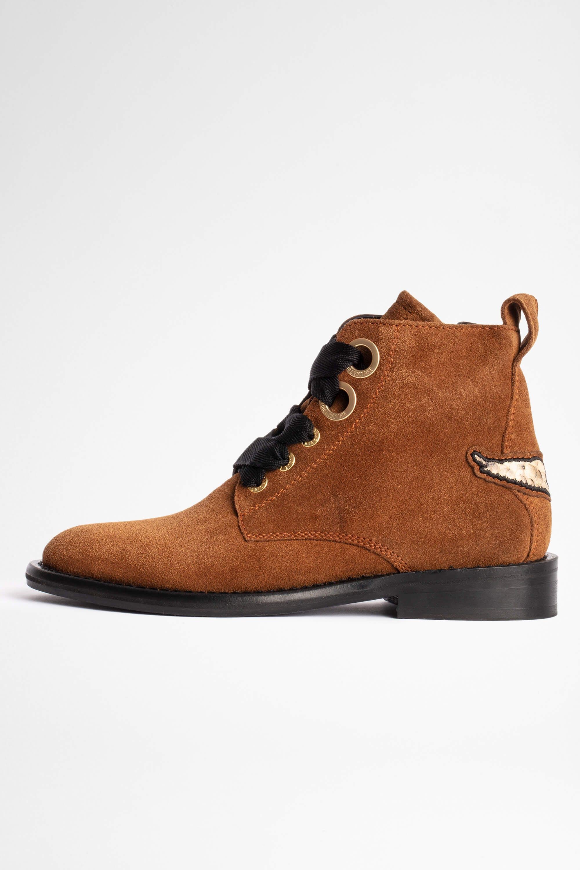 쟈딕앤볼테르 Zadig & Voltaire Laureen Ankle Boots,TAN