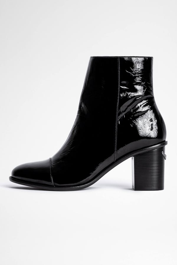 Lena Wrinkle Patent Boot