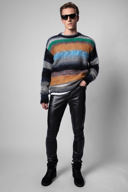 쟈딕앤볼테르 Zadig & Voltaire David Leather Pants,BLACK