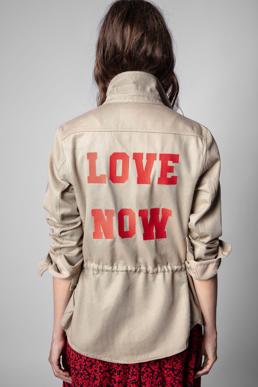 쟈딕앤볼테르 Zadig & Voltaire Tackl Mili Love Now Shirt,MACK