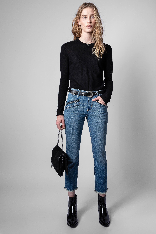 쟈딕앤볼테르 Zadig & Voltaire Ava Jeans,BLUE