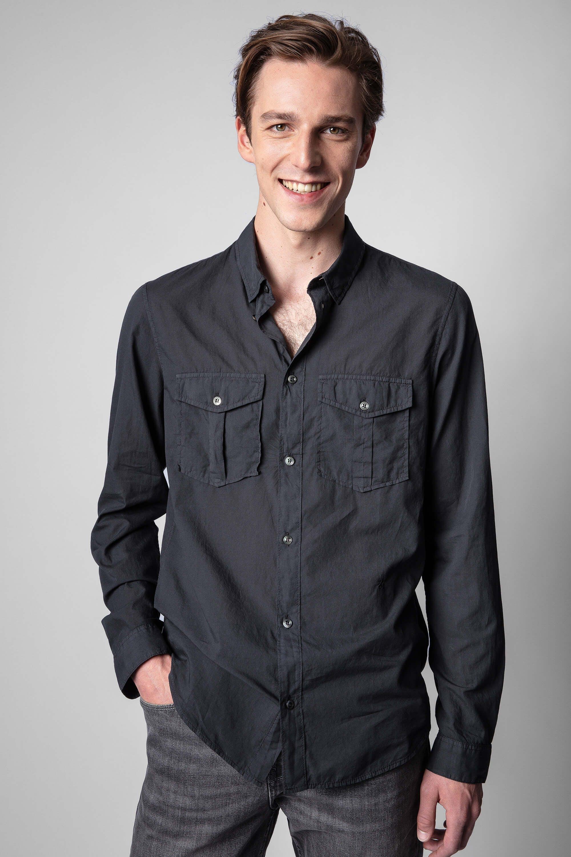 쟈딕앤볼테르 Zadig & Voltaire Thibaut Shirt,CHARCOAL GRAY