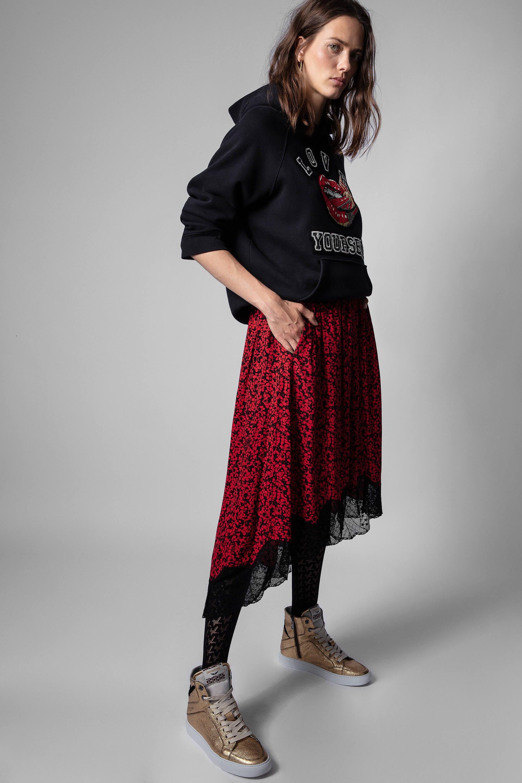 쟈딕앤볼테르 Zadig & Voltaire Joslin Skirt,PASSION