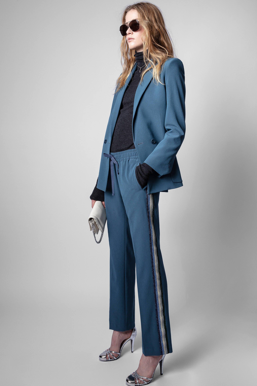 쟈딕앤볼테르 Zadig & Voltaire Pomy Trousers,BLEU DE GRIS
