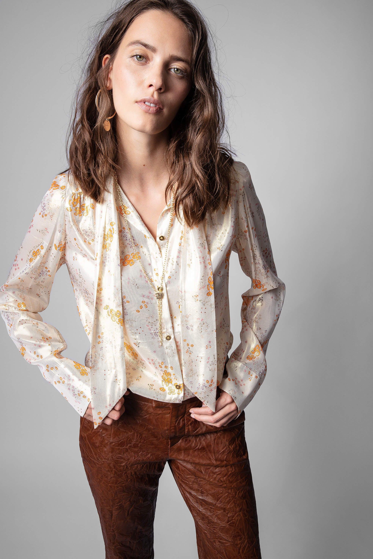 쟈딕앤볼테르 Zadig & Voltaire Tioly Shirt,GOLD