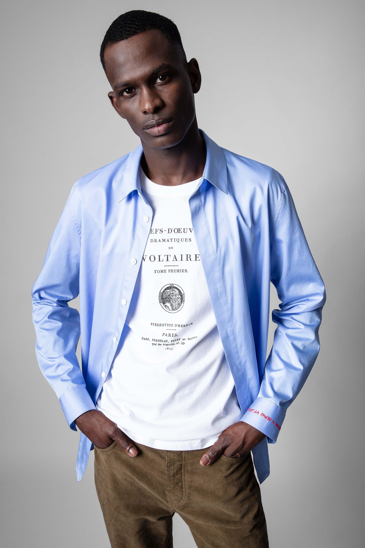 쟈딕앤볼테르 Zadig & Voltaire Sydney Pop Shirt,SKY