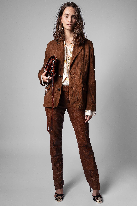 쟈딕앤볼테르 Zadig & Voltaire Prune Trousers,BROWN