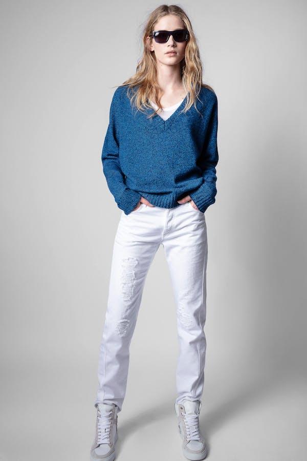 Rosy V Neck Sweater