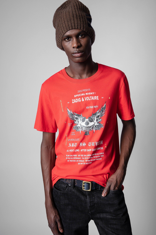 쟈딕앤볼테르 Zadig & Voltaire Ted T-shirt,POPPY
