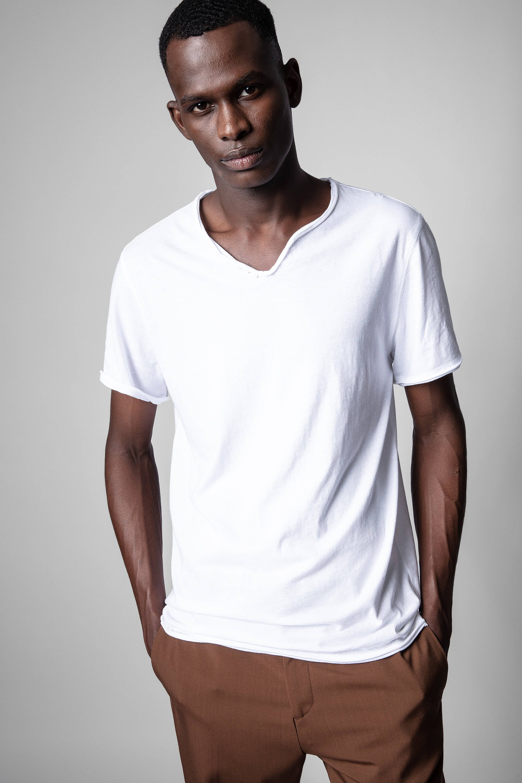 쟈딕앤볼테르 Zadig & Voltaire Monastir T-shirt,WHITE