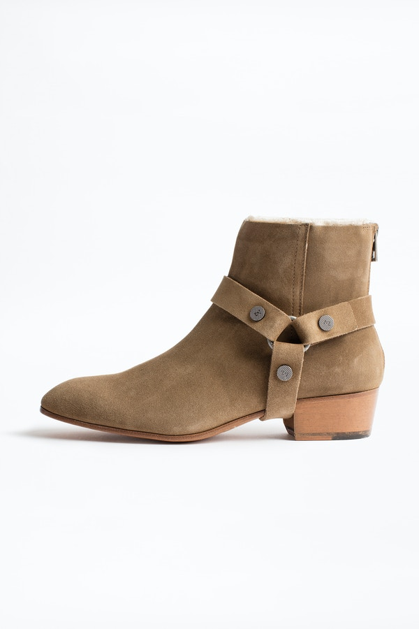 Sonlux Suede Ankle Boots