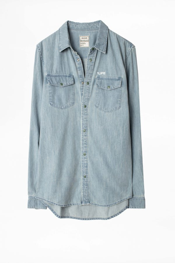 Sala Denim Photoprint Shirt