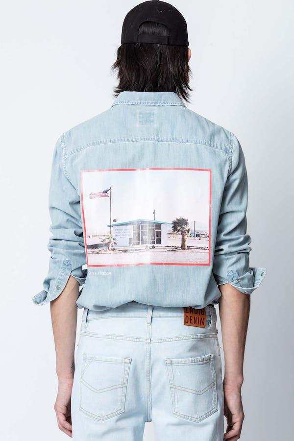 Sala Denim Photoprint Shirt