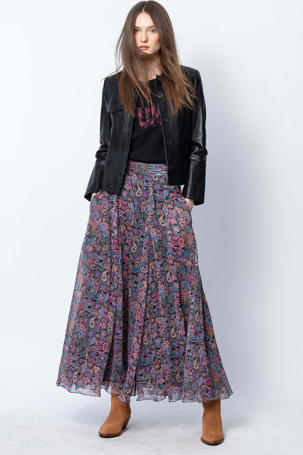 Joyo Long Print Mandala Skirt