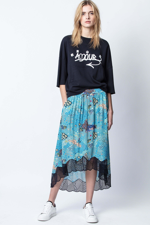 쟈딕 앤 볼테르 조슬린 락 스커트 Zadig & Voltaire Joslin Glam Rock Skirt, EUCALYPTUS