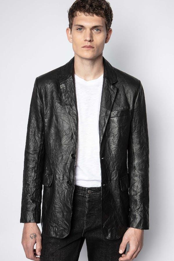 Valfried Crinkle Leather Jacket