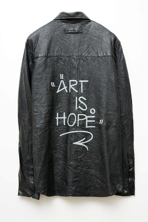 Jormi x Art Is Hope Taskah Leather Shirt