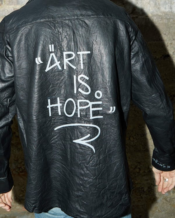 Jormi x Art Is Hope Taskah Leather Shirt