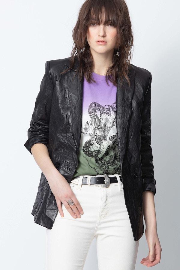 Visco Crinkle Leather Jacket