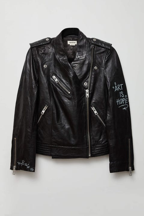 Jormi x ART IS HOPE Loon Leather Jacket