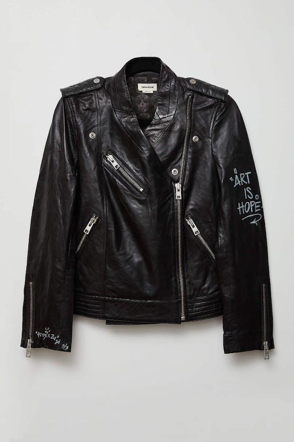 Jormi x ART IS HOPE Loon Leather Jacket