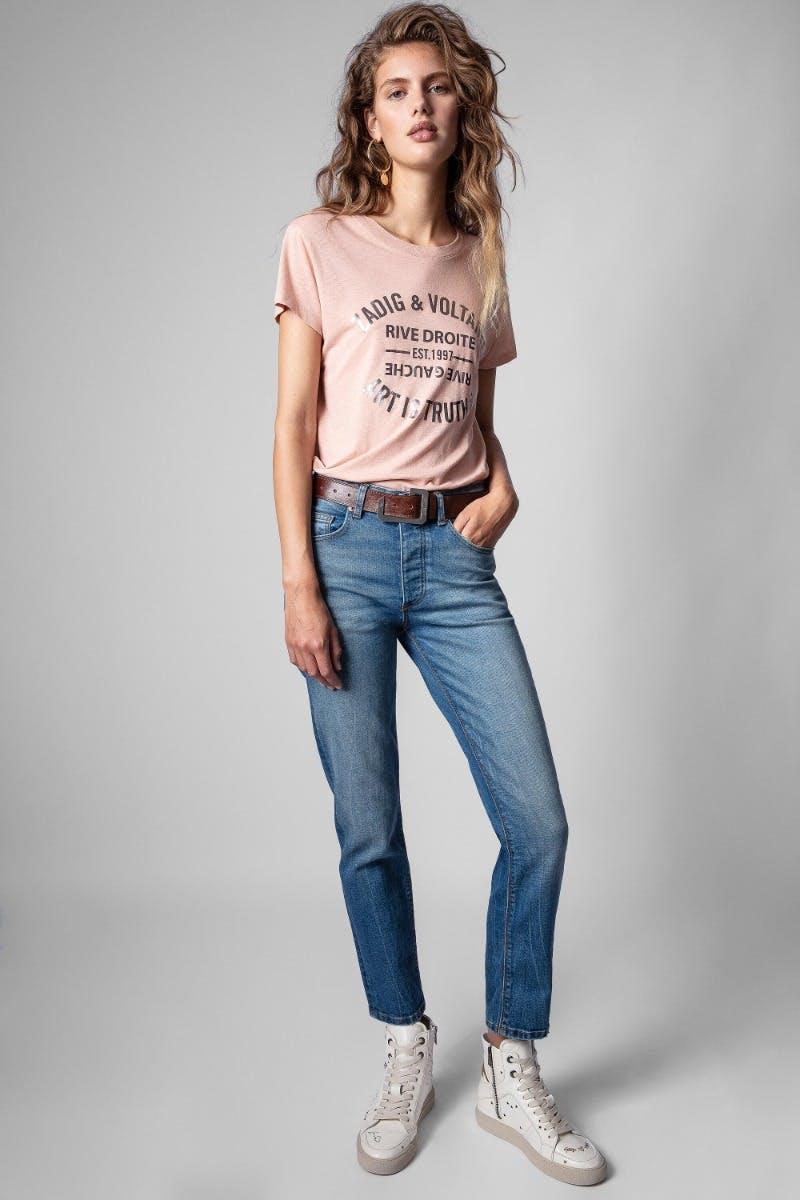 쟈딕앤볼테르 Zadig & Voltaire Mamma Denim Jeans,LIGHT BLUE