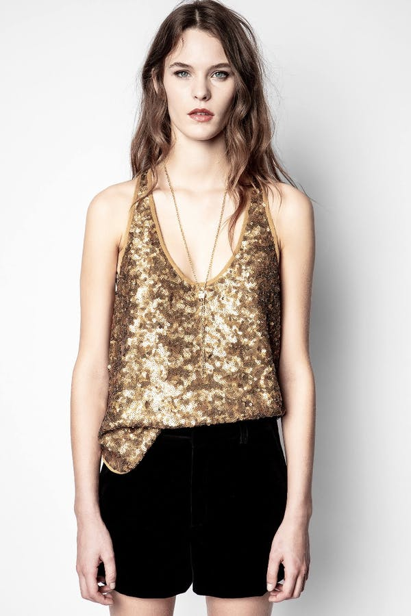 Coach Sequin Tank Top