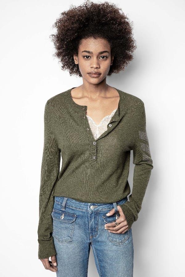 Monday Arrow Cashmere Sweater