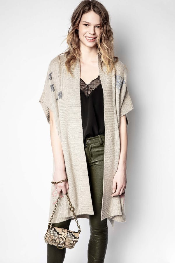Indiany Tattoo Cashmere Cardigan