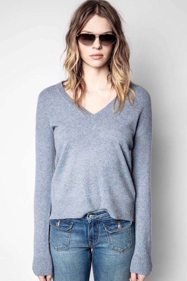 Vivi Patch Cashmere Sweater
