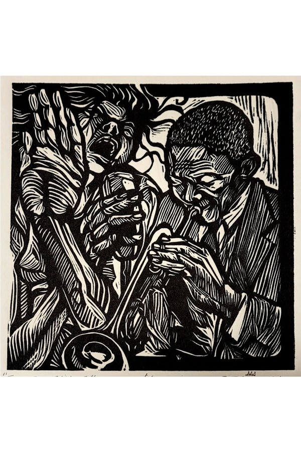 Soul Serenade, Linoleum Cut, 6